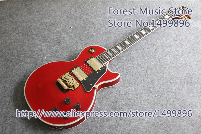 New Arrival Chinese One piece Body & Neck AL Signature LP Standard Guitars Electric In Red Quilted Finish chinese oem classical black beauty p 90 style pickup lp custom guitars electric left handed available