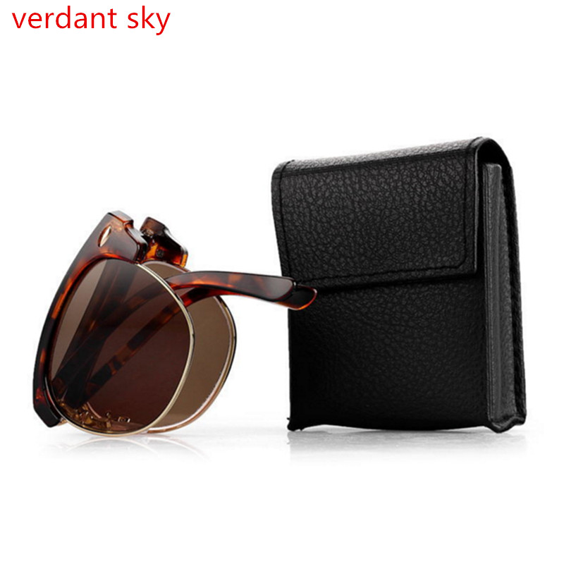 SUNTRADE 3 PCS Eye Glasses Case Zipper Sunglasses Hard Box Holder Protector with Hook