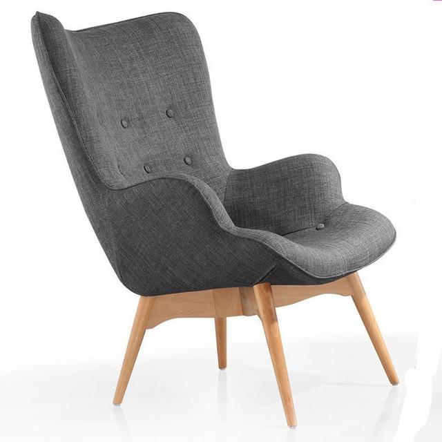 Mi Si¨cle Moderne Fauteuil Chaise Rétro Contour Chaise Salon