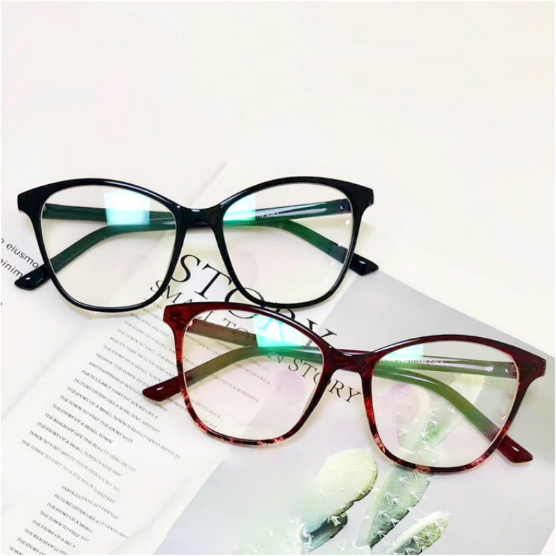 Cat Eye Glasses Frame Women Retro Black Clear Optical Glasses Frame Spectacle Gafas Oculos Eye Wear Transparent Fake Glasses