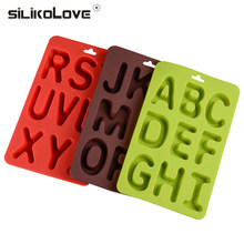 SILIKOLOVE 3 Shapes English Alphabet Ice Cube Maker Ice Mold Drink Jelly DIY Fruit Ice Kitchen Bar Drinking Accesoriess(China)