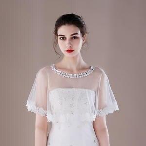 Kanrome Bridal Bolero Jacket Lace Wedding Accessories Cape
