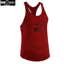 2018 New Mens Bodybuilding Tank Tops Gyms Fitness Workout Cotton Sleeveless Vest Clothing Male Casual Fashion Sling Undershirt