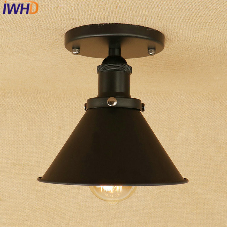 IWHD Retro led Ceiling Light Fixtures Bedroom Kitchen Ceiling Lamps For Living Room Lamp Lamparas de Techo Vintage Plafon crystal modern led ceiling lights for living room bedroom kitchen lustre lamparas de techo avize crystal ceiling lamp fixtures