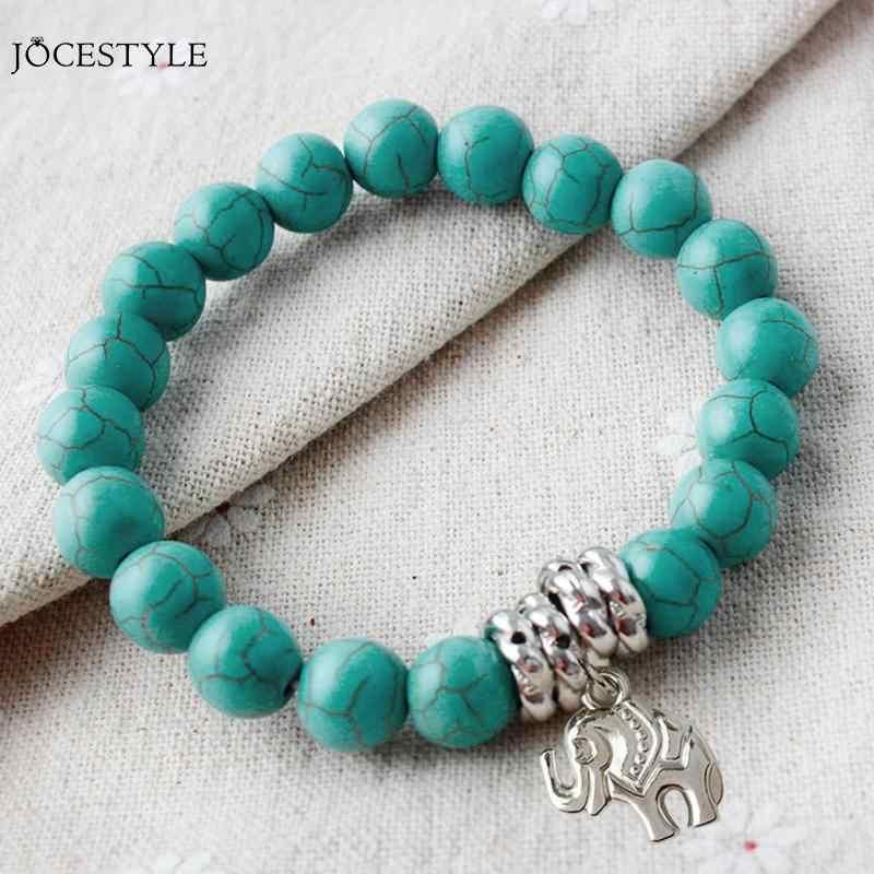แฟชั่นการออกแบบใหม่หินธรรมชาติสร้อยข้อมือเงินสร้อยข้อมือช้างสีเขียวสร้อยข้อมือสำหรับของขวัญผู้หญิง