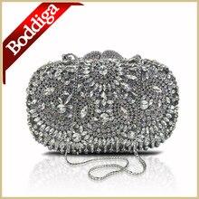 Luxus Diamant Silber Hochzeit Kupplungen Kristall Frauen Abendtaschen Mujeres Bolso Partei-handtasche für Braut Silber Umhängetaschen