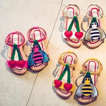 2018 fashion style cartoon girls sandals fashion summer child shoes