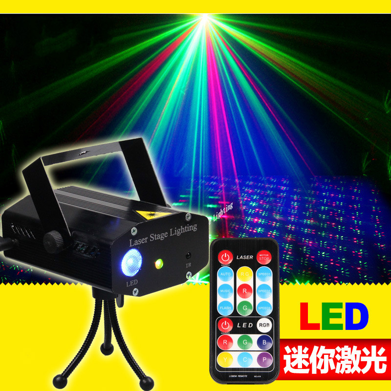 New LED mini laser remote control lamp lamp design customized KTV voice dance bar light red green blue фанатская атрибутика nba