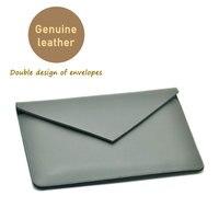 Envelope Tablet Bag Super Slim Sleeve Pouch Cover Genuine Leather Tablet Sleeve Case For Apple IPad