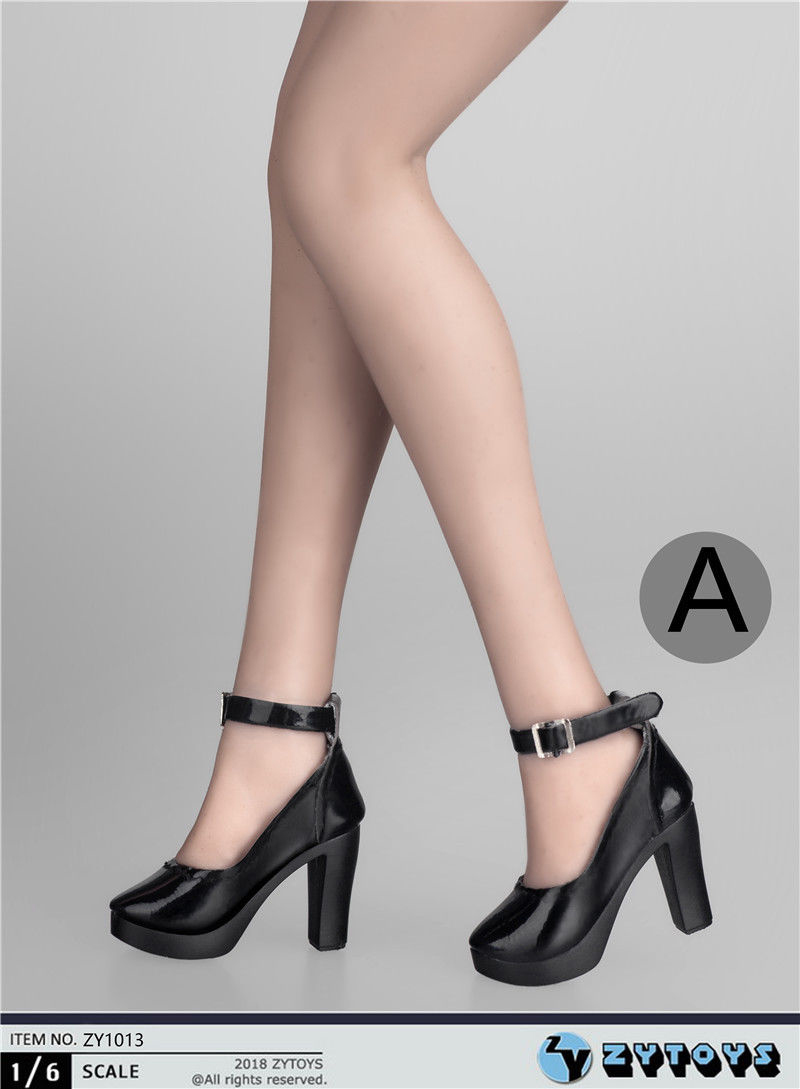 "ZYTOYS 1//6 Scale White High Heeled Shoes ZY-1 Fit 12/"" Female Figure Model Toys"