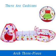 цена на 3Pcs/Set Play Tent Baby Kids Play Portable Foldable Pop Up Tunnel Basketball Game Tent Children Outdoor Sports Play Tent