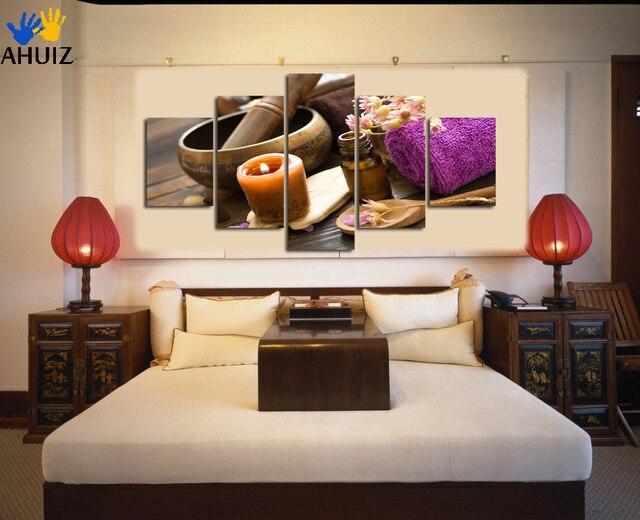 Custom HD 5 stuk canvas olieverf muur foto voor woonkamer slaapkamer ...