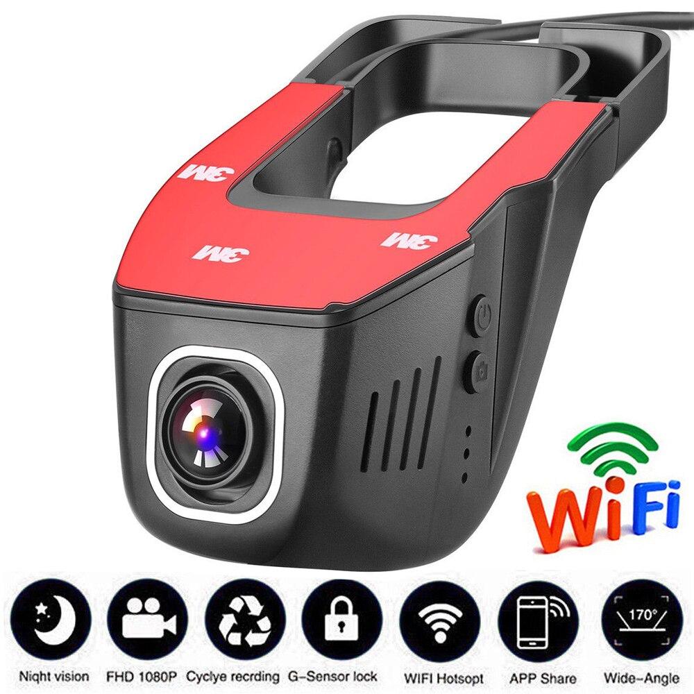 Véhicule Enregistreur de voiture dvr miroir USB DVR Mini HD 1080 P Avant Tachygraphe Numérique Caméscope Dash Caméra 170 degrés Nuit Version