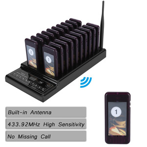 Image 3 - 433.92MHz SU 68Z Guest Paging System 999 channel 20 Receivers Pager System for Restaurant Wireless Waiter Calling System
