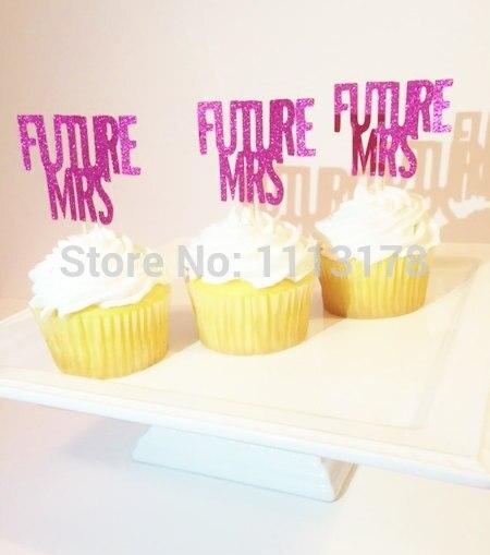 Ijverig Future Mrs Cupcake Toppers, Vrijgezellenfeest, Bruids Douche Cupcake Toppers, Wedding Cupcake Toppers Bruiloft Engagement Esthetisch Uiterlijk