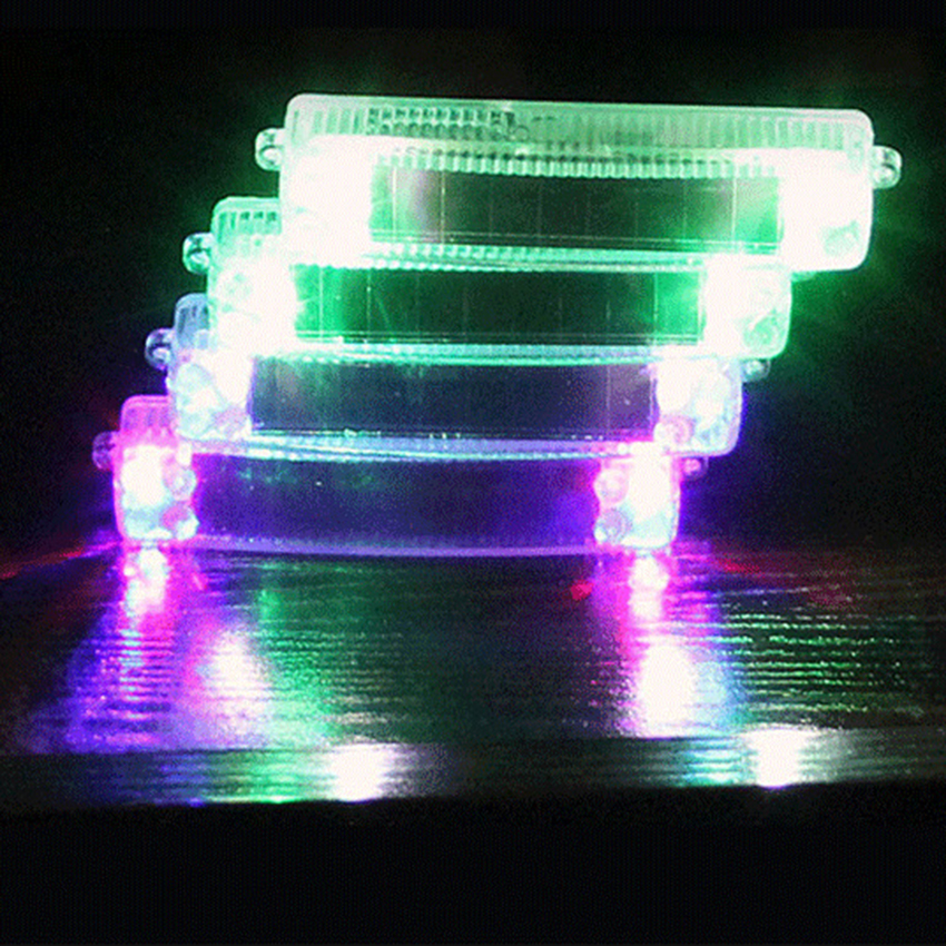 Car styling Solar Wireless LED Emergency Warning Colorful  Light Bar Traffic Vehicle Flash Strobe Lamp Decorative lights 8led bright led solar powered traffic warning light barricade lights strobe tower warning lights road cone