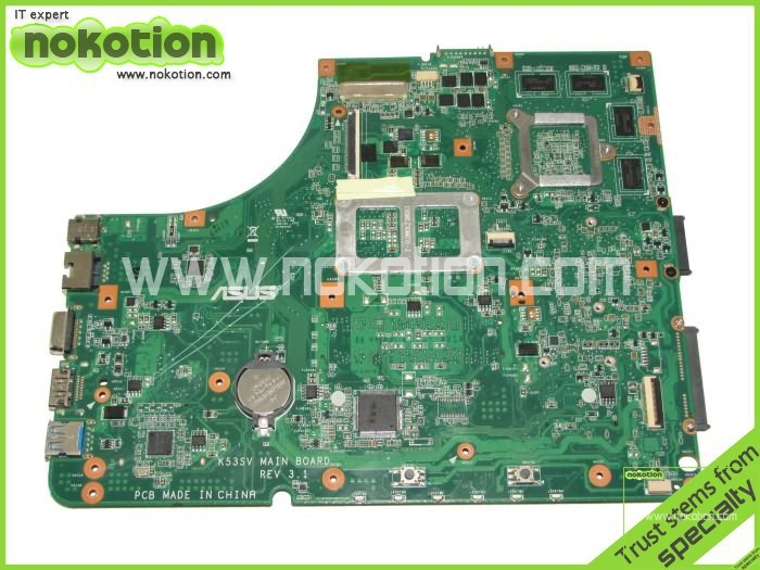 ФОТО Laptop motherboard for Asus K53SV Main board DDR3 with NVDIA graphics card full tested