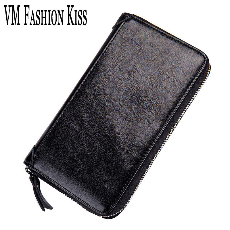 VM FASHION KISS 2017 RFID Safety Passport Holder Genuine Leather Multi-functional Large Capacity Card Bag Drivers License Bag