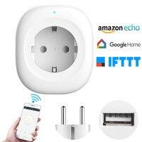 alexa Home Furnishing Intelligence Socket European regulations WIFI Wireless remote control timer Socket USB charging