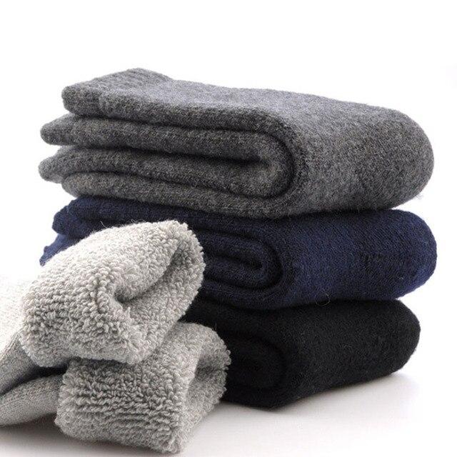 1 Par Dos Homens Engrossar Meias Quentes de Inverno Térmica De Lã Cashmere Casuais-Y107