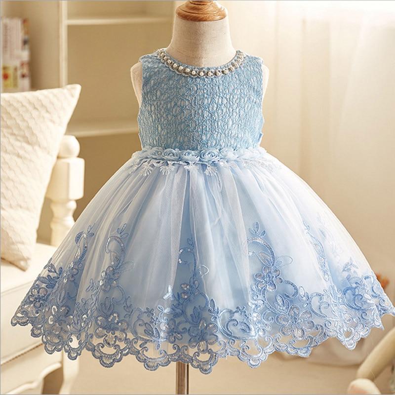 Flower Little Girl Evening Wedding Party Dress Kids Baby Communion Holy Costumes Infant Elegant Birthday Dress Children Clothing