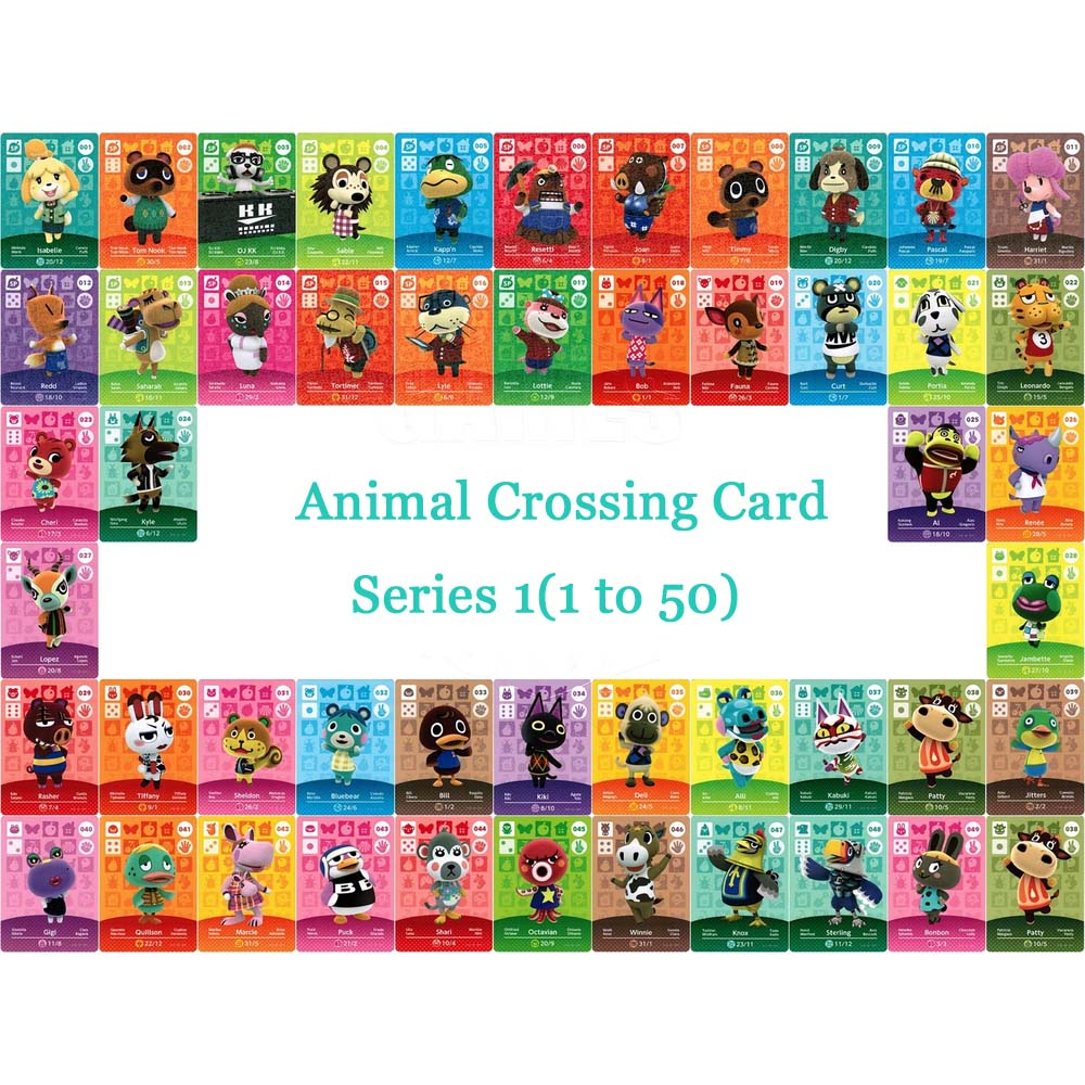 все цены на Animal Crossing Card Amiibo Card Work for NS Games Series 1 (001 to 050) онлайн