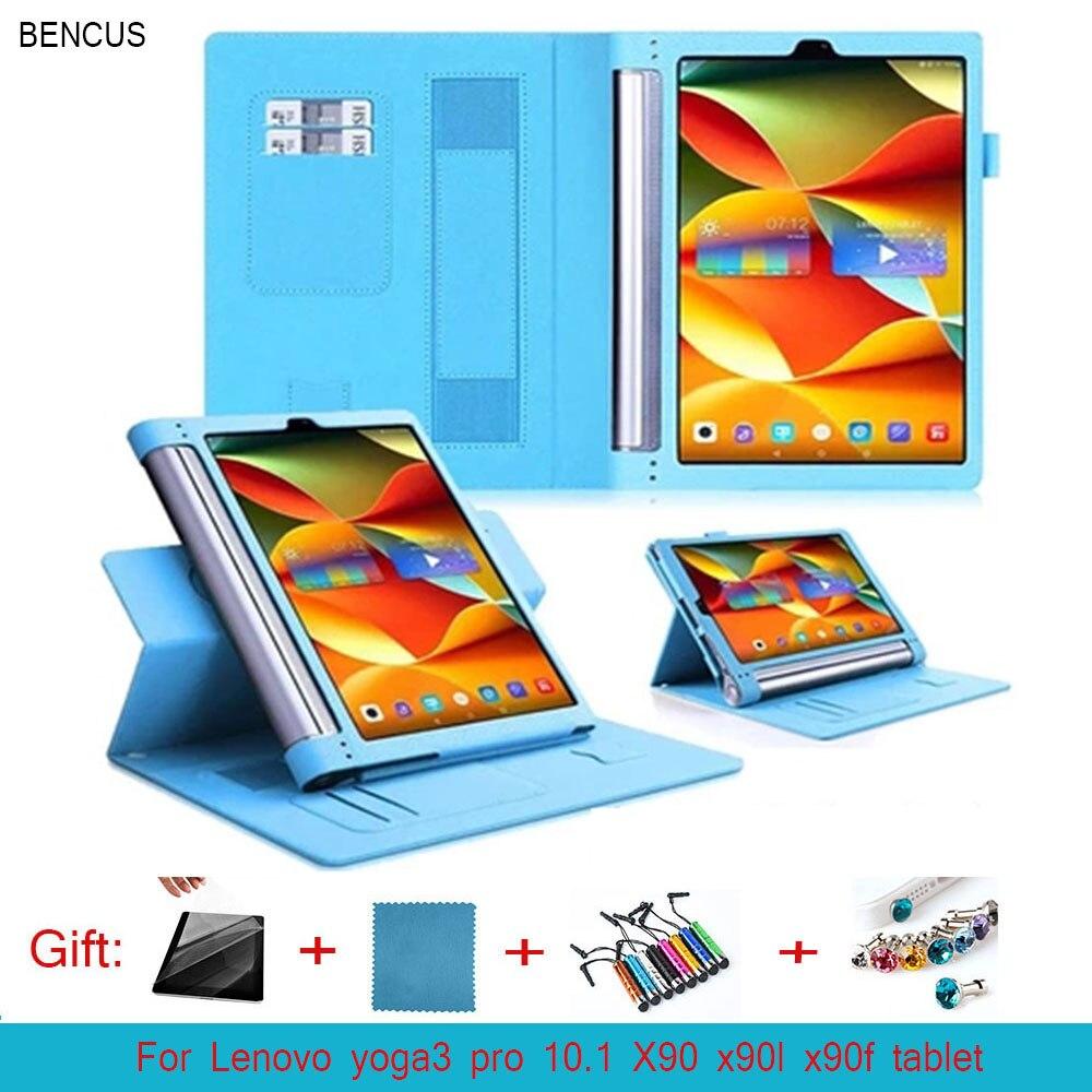 BENCUS 2016 NEW YOGA Tab3 Plus YT-X703F Tab 3 Pro Flip Cover For Lenovo yoga3 pro 10.1 X90 x90l x90f Tablet Case PU Leather Case