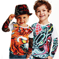 boy clothing Boys and girls tattoo sleeve  t shirt children big girls clothing  kids tops baby brand nice sleeve tops child t