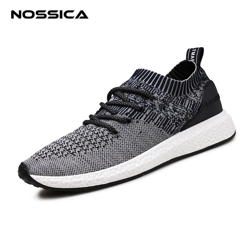 NOSSICA New Breathable Mesh Summer Men Casual Shoes Slip On Male Fashion Footwear Walkin ...