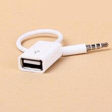 Автомобильный MP3 3,5 мм штекер AUX аудио разъем для USB 2,0 Женский конвертер кабель для наушников шнур высокого качества ПВХ для Ford/Bmw/SUV