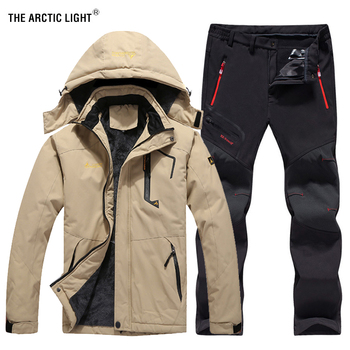 THE ARCTIC LIGHT Men Winter Waterproof Fishing Thermal Pant Jackets Trekking Hiking Camping Skiing Climbing Outdoor Set 6XL Suit the arctic light men windproof waterproof soft shell hiking ski jacket outdoor skiing coat camping trekking splice color