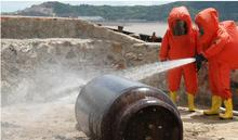 Полное закрытие тяжелых щелочных химических защитные комбинезоны, аммиака газа химические боевые костюмы, вредная газовая защитная одежда.