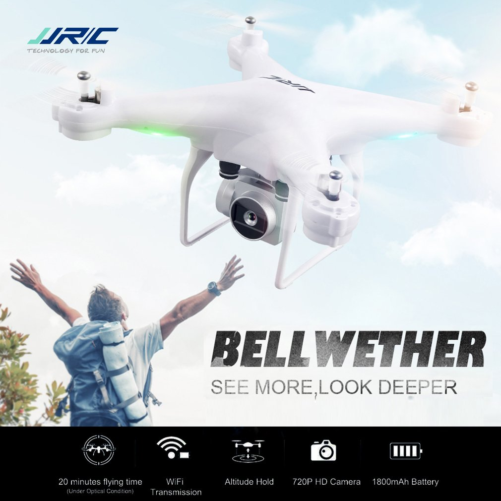 JJR/C JJRC H68 Drones with Camera 720P Quadcopter Altitude Hold Headless Mode RC Helicopter Toys 3D-Flip 20mins Long FlightingJJR/C JJRC H68 Drones with Camera 720P Quadcopter Altitude Hold Headless Mode RC Helicopter Toys 3D-Flip 20mins Long Flighting