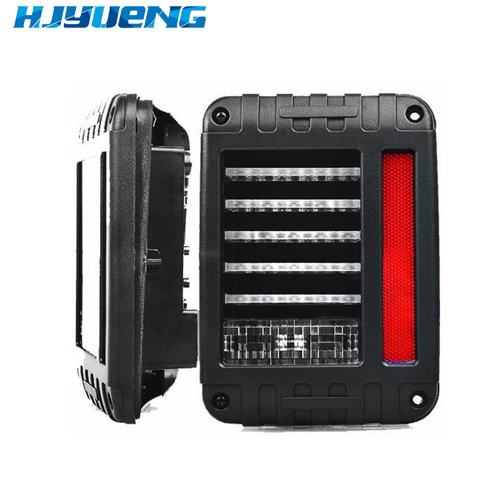 Image 4 - Tail Lights Kit Turn Signal Taillight Daytime Running Lights For Jeep Wrangler JK 07 17 LED Brake Reverse Stop Parking Backup-in Car Light Assembly from Automobiles & Motorcycles