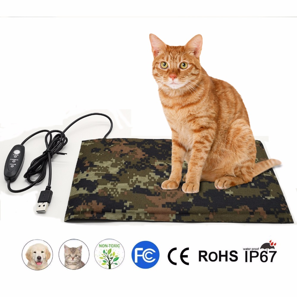 Electrical Waterproof Pet Chair Heater Animals Heaters Pet Plush Keep-warming Electric Mini Heated Blanket For Chair And Floor Punctual Timing Home Heaters