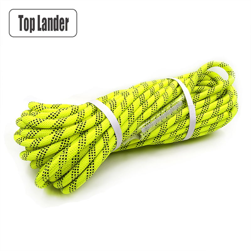 30m Climbing Rope 12mm Diameter Multipurpose Safety Rope for Rock Tree Wall Climbing Rescue Fire Escape Downhill High Strength safurance pro tree carving fall protection rock climbing equip gear rappelling harness workplace safety