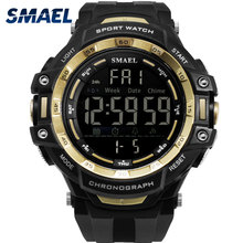 Men Watches Digital LED Light SMAEL Watch S Shock Montre Mens Military Watches Top Brand Luxury 1350 Digital Wristwatches Sports cheap Plastic 21cm 5Bar Buckle ROUND 23mm 16mm Acrylic Shock Resistant Stop Watch LED display Auto Date Week Display Water Resistant