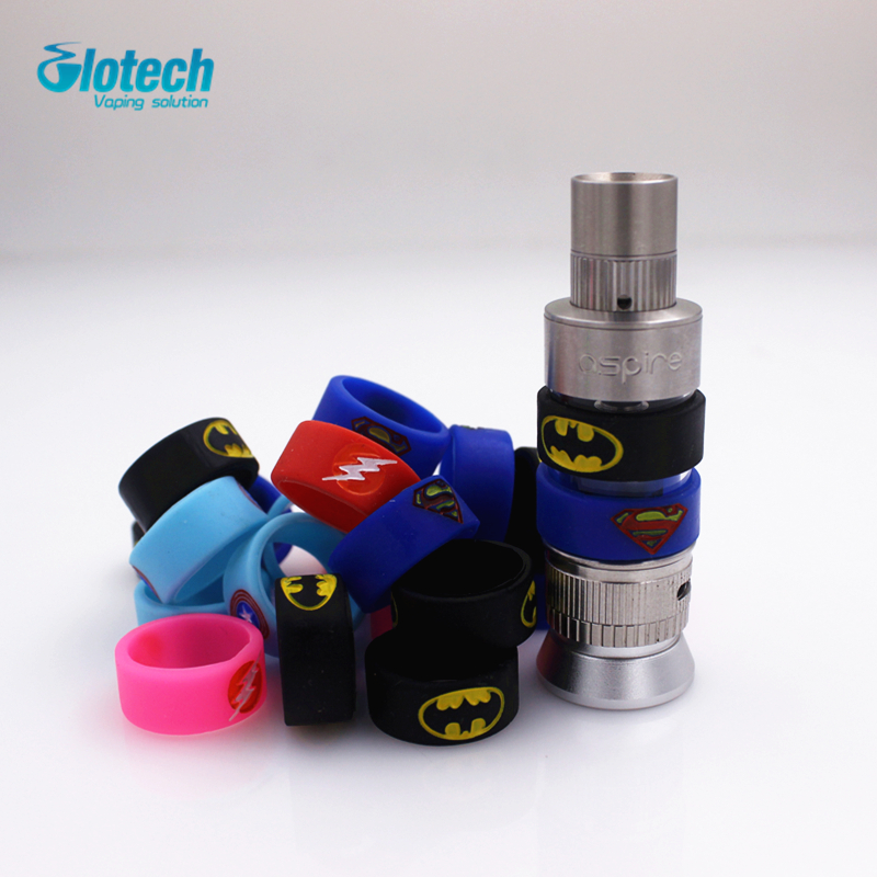 Glotech 100pcs/lot New fashional silicone rubber vape ring decorative band for mechanical mod 18650 22mm rda rba vaporizer