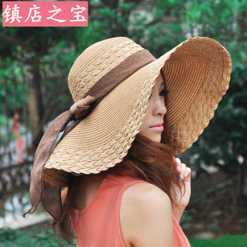 Kesebi 2018 New Hot Fashion Spring Summer Women Uv Protection Beach Hat Bow Sun Hats Female Classic Solid Color Casual Hat