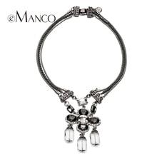 Emanco marca de moda de Europa y América Grande de cristal colgante de Las Mujeres de múltiples capas de la cadena con collar de diamantes de imitación NL07534