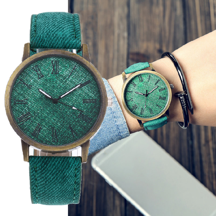 MEIBO Relojes Women Quartz Watches Denim Design Leather Strap Male Casual Wristwatch Relogio Masculino Ladies Watch female watch(China)