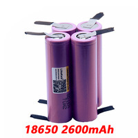 New LiitoKala original 18650 3.7V 2600mah rechargeable battery for battery  ICR18650   26FM industrial use of nickel