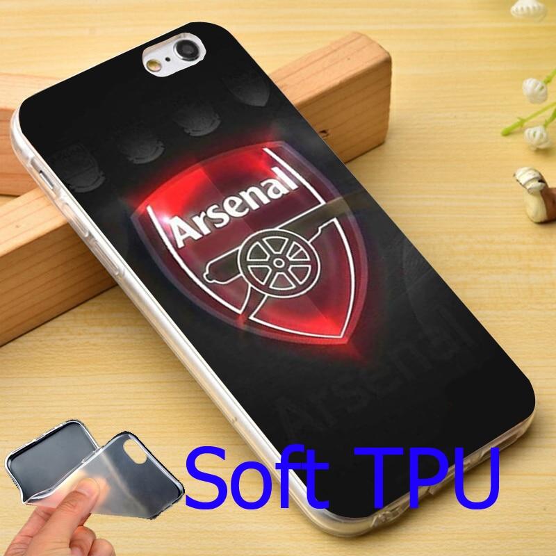 97f06a197cd ARSENAL FC FOOTBALL CLUB GUNNERS TPU Phone Case for iPhone 6 6S 7 Plus 5S 5