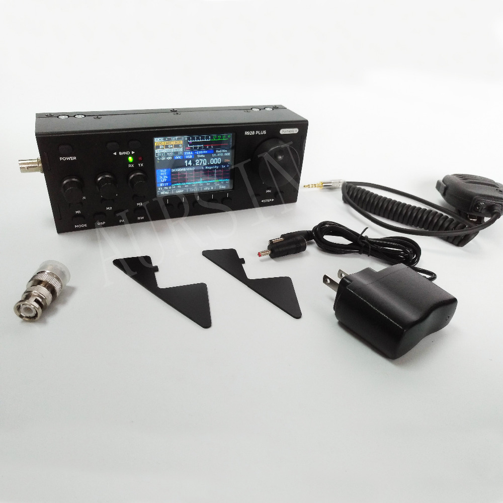 Newest R928 Plus HF SDR Muiti Mode TFT QRP Ham Transceiver with built in battery