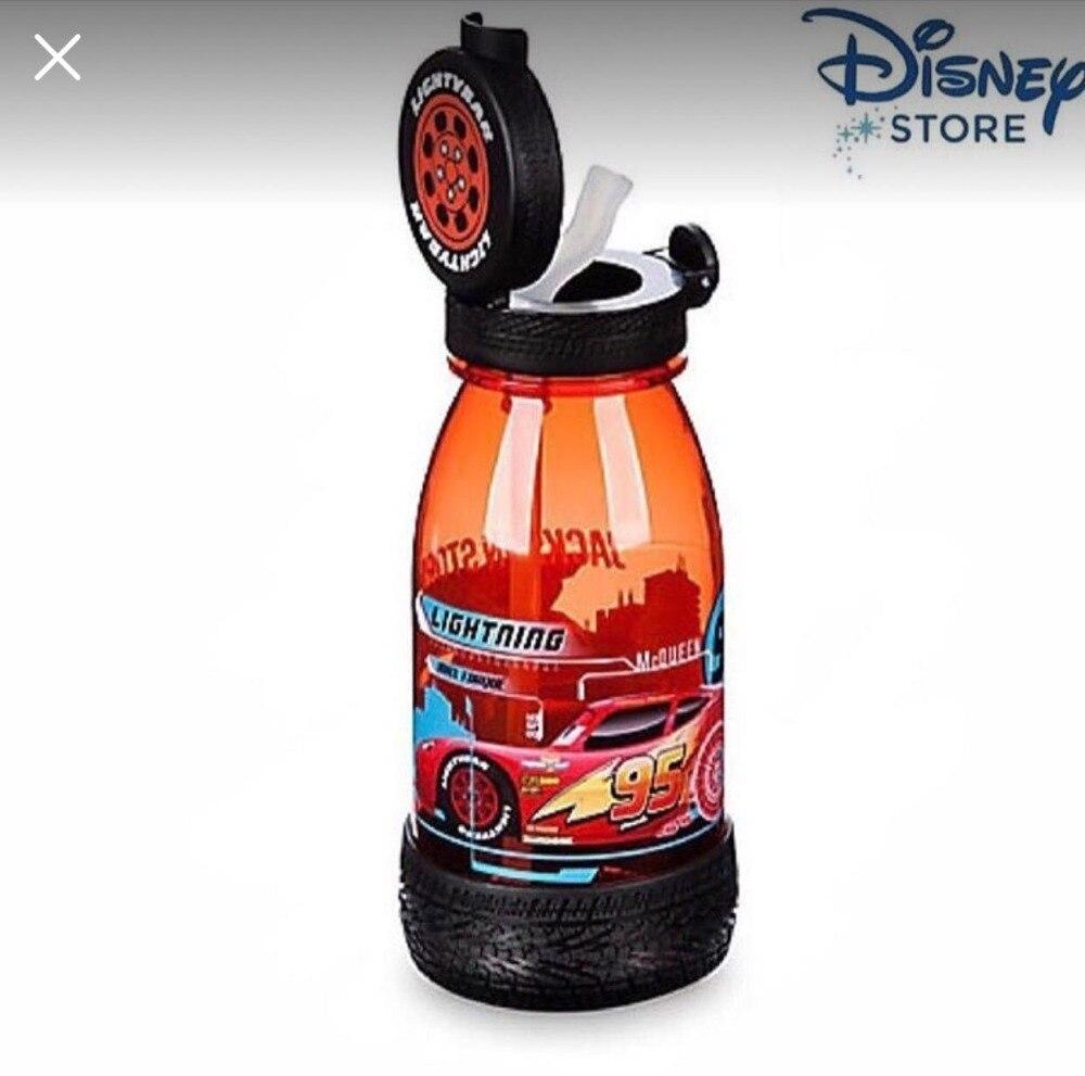 Disney cars plastique tasse avec paille dessin animé 95 étudiant sports de plein air bouteille portable tasses