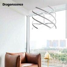 Dragonscence Modern Led Loft Chandelier For Living Room Dining Bedroom Kitchen LED Lustres Home Lighting
