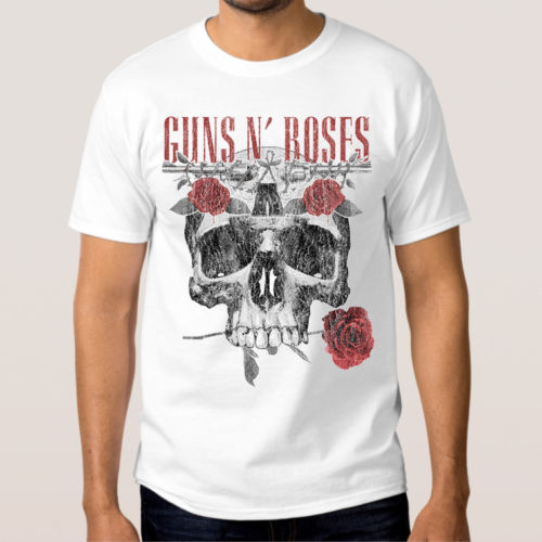 Guns N Roses T-shirt Mens New Cotton Rock Novelty Cool Tops Men Short Sleeve T shirt