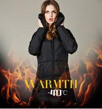 2016 длинный толстый белая утка вниз куртка turn down воротник твердые balck zippper карман тонкий женщины зимнее пальто пуховик