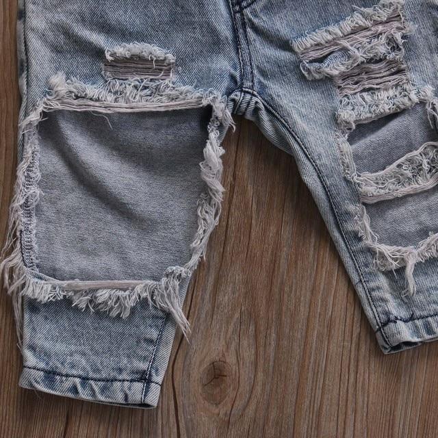 Infant Baby Girls Clothes Sets Dot Sleeveless Tops Vest Hole Denim Pants Headband 3pcs Clothing Set Baby Girl 6