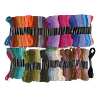 150 Colors Embroidery Thread Hand Cross Stitch Floss Sewing Skeins Craft Polyester Similar DMC Yarn